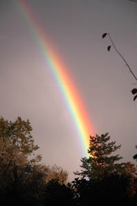 Rainbow from our backyard - October 3, 2006